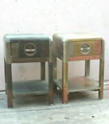 2 Pc Wooden Rustic Bed Side Nightstand End Table Home Decor Living Decor Bn84