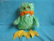 Vintage Retro Keith Harris' Orville And Cuddles - Green Duck - Soft Plush Toy 16