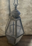 19andrdquo Tall Vtg Entry Gate Post Top Colonial French Light Lamp Lantern Fixture