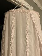 Simply Shabby Chic Discontinued Light Pink Ruffle Bed Nursery Canopy Curtain Euc