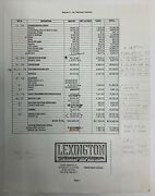 Babylon 5 Lexington Scenery Props Set Fabrication Estimate With Notes And Copy