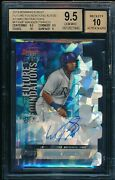 Bgs 9.5/10 Wander Franco Auto 2019 Bowmanand039s Best Atomic Refractor /25 Gem Mint