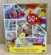 Nib Play-doh Kitchen Creations Great Baking Book Play Food Set With 50+ Pieces
