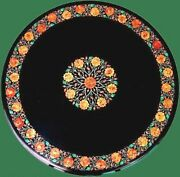 Inlay Art At Border Marble Hall Table Top Stone Work Dining Table Top 42 Inches