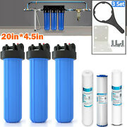3-stage Whole House Water Filtration System W/ 20-inch Big Blue Sediment Filters