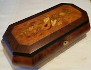 Reuge Music Large Musical Jewelry Box Playing 30 Note Orpheus Mvt-tristesse