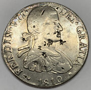 1810 Mexico 8 Reales Fine Clean Silver Coin Km 110 Spanish Colony Hj Carolus Iv