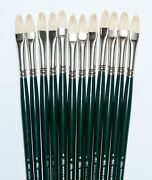 Winsor Newton Winton Hogs Set Of 12 Size 4 Filberts List 112.now Only 29.95