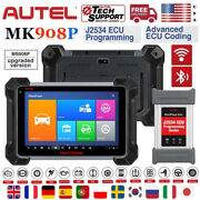 Autel Mk908p Obd2 J2534 Programming Ecu Diagnostic Scanner Better Maxisys Elite