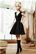 Barbie Gold Label Fashion Model Collection Classic Black Dress Doll Blonde