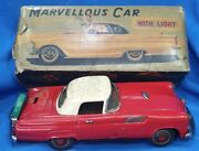 Old Vintage Tin Battery Operated Marvellous Car Toy With Box From Japan 1950 .
