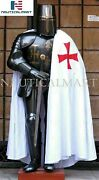 Vintage Medieval Knight Wearable Suit Of Armor Crusader Gothic Full Body Armour