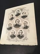 1867 Print Of Union Officers - Thomas, Curtis, Cox, Negley, Canby, + Others