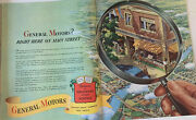 1941 Print Ad General Motors Vintage Magnifying Glass Main Street Usa Dealers A2