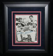 Hank Aaron And Eddie Mathews Matted And Framed Autographed Photo Jsa Certified