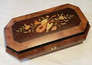 Reuge Music Large Jewelry Box Playing 1.36 Note Mvt- Fur Elise