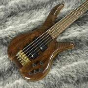 Phoenix Ph-2-5w Brown Electric Bass Used Free Shipping