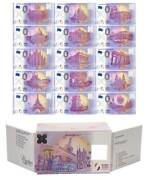 547 Zero Euro Banknotes Including 2 Polymer Sets Of 15