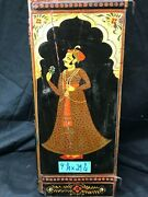 Vintage Hand Carved Painted Wood Folding Doors - Indian