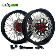 17and039and039 3.5/4.25 Complete Wheels Rims Rotor Bracket For Honda Crf450r Crf250r 04-13