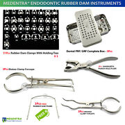Endodontic Rubber Dam Instruments Clamps Holding Forceps Implant Prf / Grf Box