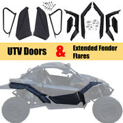 Lower Door Panels Inserts Kit And Extended Fender Flares For Can Am Maverick X3