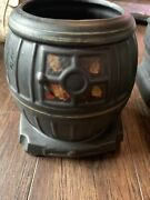Vintage Mccoy Pot Belly Stove Cookie Jar 11 Made In Usa
