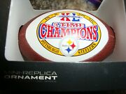 Collectors Ornaments Very Rare Refer To Picture Pittsburgh Steelers Five Time