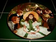 1988 W.s. George Gone With The Wind Collector Plate Scarlett And Her Suitors Coa