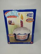 Tested Babys First Birthday Cupcake Air Blown Inflatable 4 Ft Tall Gemmy