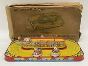 Vintage J. Chein And Co Playland Whip No. 340 Litho Tin Toy With Original Box