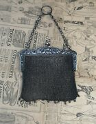 Antique Art Nouveau Sterling Silver Mesh Purse