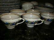 Crown Ducal Florentine China Plates Cups Saucers 1954 Vintage