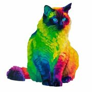 Wood Rainbow Cat Jigsaw Puzzles Animal Jigsaw Pieces Best Gift For Kidand Adult