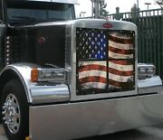Peterbilt 379 Extended Hood Old Glory Premium Quilted Winter Front