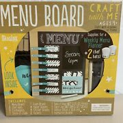 Craft With Me Menu Board Supplies For Weekly Menu Planner 2 Chef Hats New