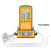 Wireless Remote Digital Cooking Meat Thermometer Dual Probe Grilling Smoker Bbq