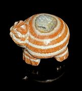 Old Ancient Antique Sapphire Stone Caved Turtle Figure Bead From Burma Pyu