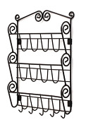 Letter Rack,mails And Magazines Organizer With Key Holder,wall Mount Storage Decor