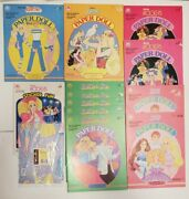 Barbie Paper Doll Sticker Fun Wrapping Paper Lot Of 13 1980and039s Some Duplicates