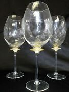 Hand Blown, Signed Balloon Goblets From Neiman Marcus, Set Of 6