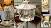 Antique Doll Display Antique French Gorgeous Merry Go Round Carousel Lights Up