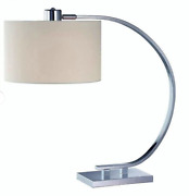 Lite Source Ls-21652 Single Light Down Lighting Table Lamp With White Fabric