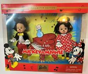 Barbie Collectables Micky And Minnie Mouse By Mattel Box Is 7x 8