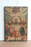 Old Vintage Paintings On Teak Wood Antique Home Decor Rare Collectible Art Bo-06