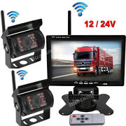 Car 2 X Wireless Hd Back Up Rear View Camera And 7 Monitor For Truck Rvs Lorry