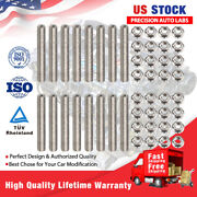 Stainless Steel Bolts Exhaust Manifold Header Stud Set For Ford F150 4.6/5.4l V8