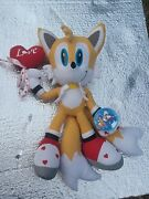 Super Rare Nwt Vintage Sonic X Plush Sonic Project Sonic The Hedgehog Tails