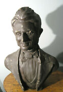 Antique Vintage Charles Goodyear Bust Counter Display Rare Auto Tire History