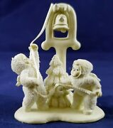 Dept 56 Snowbabies Pewter Miniature Ring The Bells It's Christmas 76692 Retired
